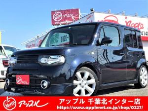 日産 キューブ 15X Mセレクション・ナビ・車高調・社外マフラー・エアロ