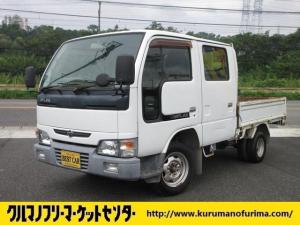 日産 アトラストラック WキャブロングスーパーローDX ガソリン車 5速マニュアル 1.25t積