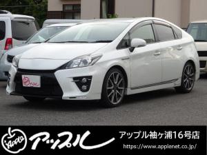 トヨタ プリウス Sツーリングセレクション・G's 禁煙車 社外9インチナビ