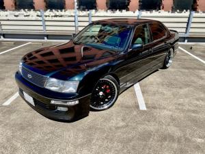 トヨタ セルシオ C仕様 インシュランスフルエアロ サスコン AMEシャレン20インチ 革シート サンルーフ