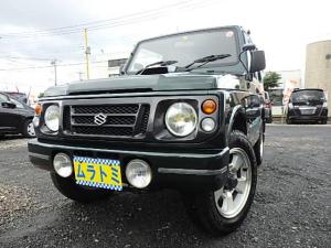 スズキ ジムニー ワイルドウインド 5速MT 4WD ターボタイマー 追加メーター フォグ ルーフキャリア ICターボ Tチェーン車