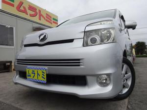 トヨタ ヴォクシー ZS 4WD HDDナビ バックカメラ MTモード パドルシフト 電動スライドドア タイミングチェーン スマートキー プッシュスタート 電格ウィンカーミラー HIDライト フォグライト ETC 革ハンドル