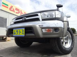 トヨタ ハイラックスサーフ SSR-X Vセレクション 4WD SDナビ Bluetooth 地デジTV 社外16インチアルミホイール デューラーホワイトレタータイヤ ETC 後期型 背面タイヤレス キーレスキー タイミングチェーン ABS ルーフレール