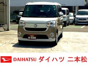 ダイハツ ムーヴキャンバス Gメイクアップ SAIII ナビ フルセグ 1オーナー 両側パワースライドドア バックカメラ