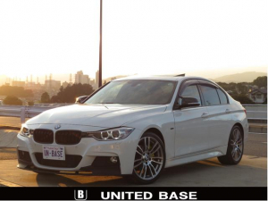BMW 3シリーズ 320d Mスポーツ 禁煙車 ベージュ本革 SR OP19AW Bluetooth シートH クルコン 新品リップスポイラー 新品グリル 新品Vストラットバー 新品カーボン調ミラーカバー 新品パドルSカバー