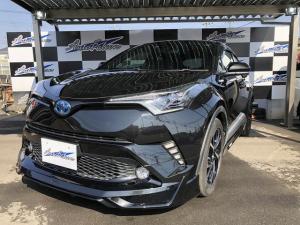トヨタ C-HR G ワンオーナー 純正9インチナビ LEDライト付きフルエアロ ダブルシーケンシャルウインカー LEDヘッドライト バックカメラ トヨタセーフティセンス ETC 純正アルミ