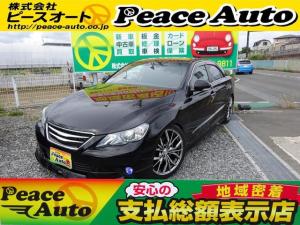 トヨタ マークX 250G Spkg電子キーナビ車高調新品19アルミモデリスタ