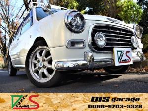 ダイハツ ミラジーノ ミニライトスペシャルターボ タイミングベルト交換済み 車高調 フェンダーミラー 黒レザーシート 純正HID 後期モデル MINILITE14インチアルミ