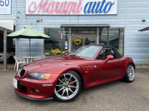BMW Z3ロードスター 2.0 赤革ARQRAYマフラーA/m/s車高調アドバンレーシング18AW
