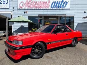 日産 スカイライン GTS-Xツインカム24V FリップRスポイラーダウンサスブラックレーシング15AW純正5MT