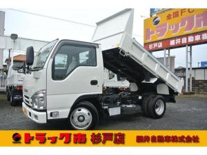 いすゞ エルフトラック 積載3トン 全低床強化ダンプ コボレーン