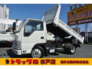 いすゞ エルフトラック 積載2トン 全低床強化ダンプ 距離無制限1年保証