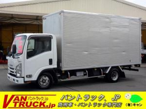 いすゞ エルフトラック 標準幅 ロング アルミバン 2t積 全低床 ラッシング2段