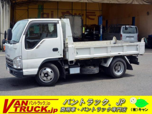 いすゞ エルフトラック 強化ダンプ 製 3t積 三方開 フルフラットロー