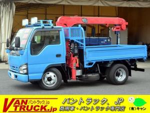 いすゞ エルフトラック 標準幅 ショート 3段クレーン 2t フックイン 2.3t吊