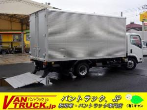 いすゞ エルフトラック 標準ロング アルミバン 2t 格納パワーゲート サイドドア