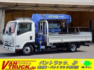いすゞ エルフトラック ワイドロング 5段クレーン ラジコン 2.6t吊 2t積