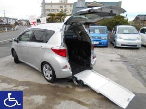 トヨタ ラクティス 福祉車両 ニールダウン式 スローパー 電動固定式 1オーナー