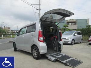 スズキ ワゴンR FX 福祉車両 スローパー 電動固定式 リアシート付4人乗り Tチェーン車