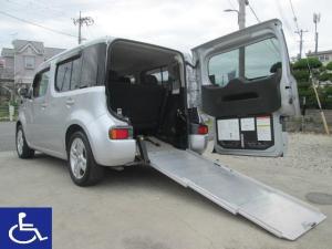 日産 キューブ 15X 福祉車両 スローパー リアシート付5人乗り プッシュST ナビTV ETC付