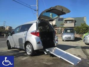 トヨタ ラクティス X 福祉車両 スローパー ドライブレコーダー 5人乗りリアシート付 記録簿有