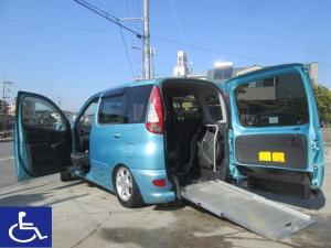 トヨタ ファンカーゴ X 福祉車両 ニールダウン式 スローパー 助手席回転シート付