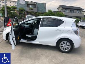 トヨタ アクア S 福祉車両 ウェルキャブAタイプ 助手席回転シート ETC付