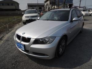 BMW 3シリーズ 320iツーリング HDDナビ 地デジ バックカメラ キーレス ETC HID オイル漏れ修理 AUX音楽器機接続 CD 純正アルミ タイヤ7分山 ルーフレール 取説 記録簿
