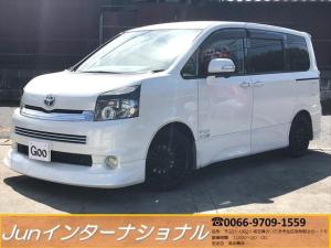 トヨタ ヴォクシー ZS TEIN車高調 黒革調シートカバー Fリップ Rエアロ
