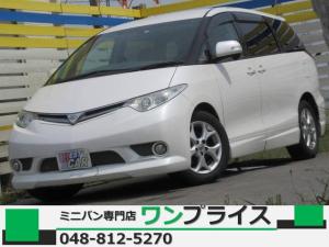 トヨタ エスティマ G 純正HDD Bカメ 両側電動 ケンスタイルエアロ 4WD