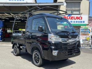 ダイハツ ハイゼットトラック ジャンボSAIIIt 4WD ハードカーゴキャリア リフトアップ マッドタイヤ ホイール ナビ TV ドラレコ ETC オーバーフェンダー