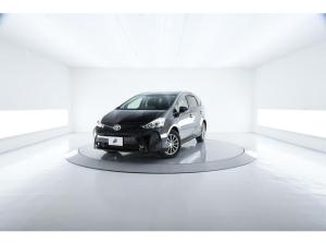 トヨタ プリウスアルファ S チューン ブラックII LED Bカメラ 内装白コンビ
