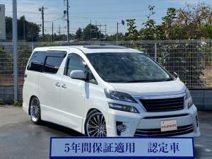トヨタ ヴェルファイア 3.5Z ゴールデンアイズ (禁煙車)(特別仕様車)(サンルーフ)(BIG-X9型ナビ)(社外20AW/車高調)(前後ドラレコ付) 後席モニタ バックM Bluetooth クルーズC パワーバックD 両側自動ドア ETC
