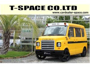 スズキ エブリイ PA ブギーライダー GMCスクールバス仕様 マットブラック15インチAW 内装カラーリメイク オリジナルシートカバー FAKERステアリング CarrozerriaメモリーナビDTVBluethooth
