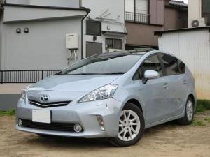 トヨタ プリウスアルファ S ガラスルーフ スマートキー プッシュスタート 純正HDDナビ バックカメラ Bluetoothオーディオ 地デジ
