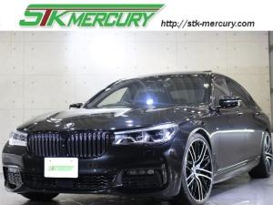 BMW 7シリーズ 740Li Mスポーツ 自社保証!ロ-ダウン!アンビエントエアー!黒革!サンル-フ!ACC!純正OP21AW!LEDヘッドライト!後席モニター!前後シートヒーター!ヘッドアップディスプレー!レーンキープアシスト!ドラレコ!