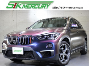 BMW X1 sDrive 18i ハイラインPKG マジョーラボディ ベージュ革 メタル調ルーフ LEDライト 純正18AW 電動トランク インテリジェントセーフティ 純ナビ Bカメラ Bluetooth シートヒーター AUX