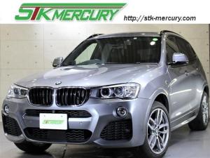 BMW X3 xDrive 20d Mスポーツ 黒革 シートヒーター ACC Mスポ専用19AW 純ナビ 地デジ バックカメラ TOPビューカメラ パドルシフト 1オーナー 車線逸脱警告 衝突警告ブレーキ Bluetooth 毎年D整備 記録簿4枚