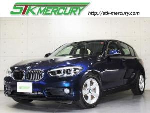 BMW 1シリーズ 118i スポーツ 後期・LEDヘッドライト・純正ナビバックカメラ・クルーズC・衝突軽減・車線逸脱・ETC・AUX・USB・Aストップ・Bトゥース・DVD再生
