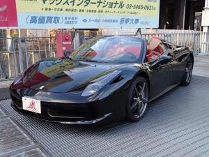 フェラーリ 458スパイダー DCT・ワンオーナー・走行7000キロ・正規ディーラー車
