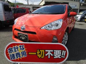 トヨタ アクア G DVD再生 ナビ 衝突安全ボディ アイドリングストップ