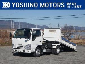 いすゞ エルフトラック ローダーダンプ 新明和製 フルフラットロー 積載3t