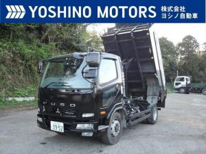 三菱ふそう ファイター ダンプ 増トン 新明和 自動シート 可動式リアバンパー 240馬力 6MT 積載8.2t