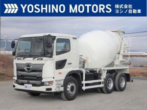 日野 プロフィア ミキサー車 カヤバ製 未使用 8.7立米 電動ホッパーカバー 360馬力 7MT 積載9.84t