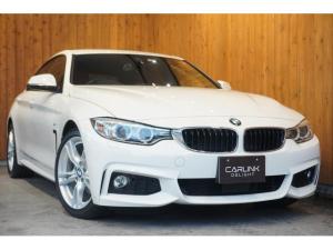 BMW 4シリーズ 420iグランクーペ Mスポーツ エンジン改良モデル ヒーター付赤革電動シート ACC レーンディパーチャーウォーニング インテリジェントセーフティ ナビBカメラ コンフォートアクセス HID リアソナー パワーバックドア 禁煙1オナ