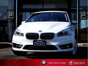 BMW 2シリーズ 220iグランツアラー ラグジュアリー 純正17AW ブラックレザー HDDナビ AUX USB ブルートゥース リアPDC Bカメラ スマートキー LEDヘッドライト メモリーPシート Dアシスト Pリアゲート シートヒーター 1年保証