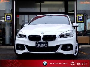 BMW 2シリーズ 218iグランツアラー Mスポーツ 1オーナー 自動追従 ドライビングアシスト フルセグ リアモニター アルカンターラスポーツシート LEDヘッドライト HDDナビ DVD Mサーバー ブルートゥース ヘッドアップディスプレイ 1年保証