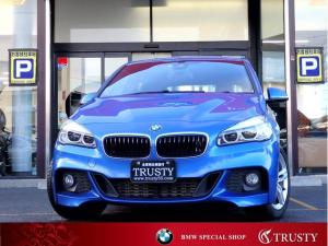 BMW 2シリーズ 218dアクティブツアラー Mスポーツ 1オーナー パーキングサポートP 純正17AW 純正フルエアロ HDDナビ DVD AUX USB Bカメラ リアPDC スマートキー LEDヘッドライト Dアシスト Pリアゲート 禁煙車 1年保証