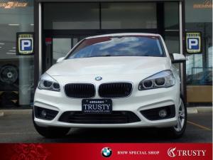 BMW 2シリーズ 218iグランツアラー ディーラー下取車 1オーナー 純正16AW HDDナビ DVD Mサーバー ブルートゥース バックカメラ LEDヘッドライト ドライビングアシスト リアフィルム 記録簿 1年保証