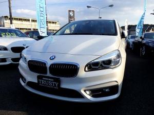 BMW 2シリーズ 218iアクティブツアラー ラグジュアリー ドライビングアシスト 純正16インチAW ブラウンレザー HDDナビ CD DVD Mサーバー ブルートゥース バックカメラ リアPDC LEDヘッドライト シートヒーター 記録簿 1年保証